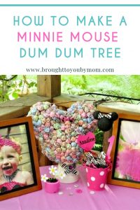 How to Make a Minnie Mouse Dum Dum Tree #minniemouse #dumdumtree #birthday