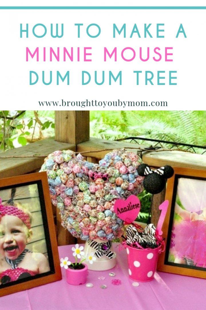 How to Make a Minnie Mouse Dum Dum Tree #minniemouse #dumdumtree #birthday