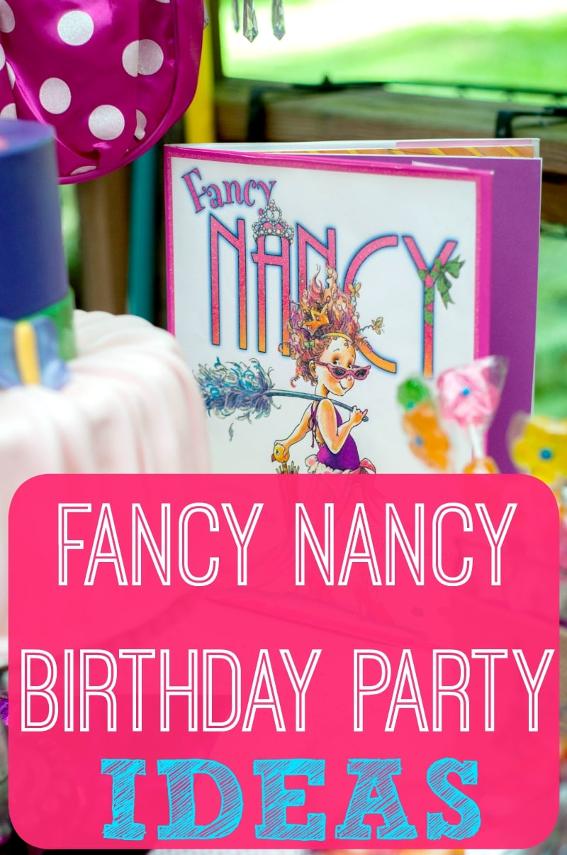 "Fancy Nancy Birthday Party Ideas filled with fun treats, favors, and décor that are ""oh la la"" perfect for Fancy Nancy birthday party supplies. Party planning a Fancy Nancy birthday!"