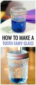 How to make a Tooth Fairy Glass for when your child loses a tooth. Make it fun and magical with this DIY tutorial.Tooth Fairy ideas for your little one to create Tooth Fairy Traditions.