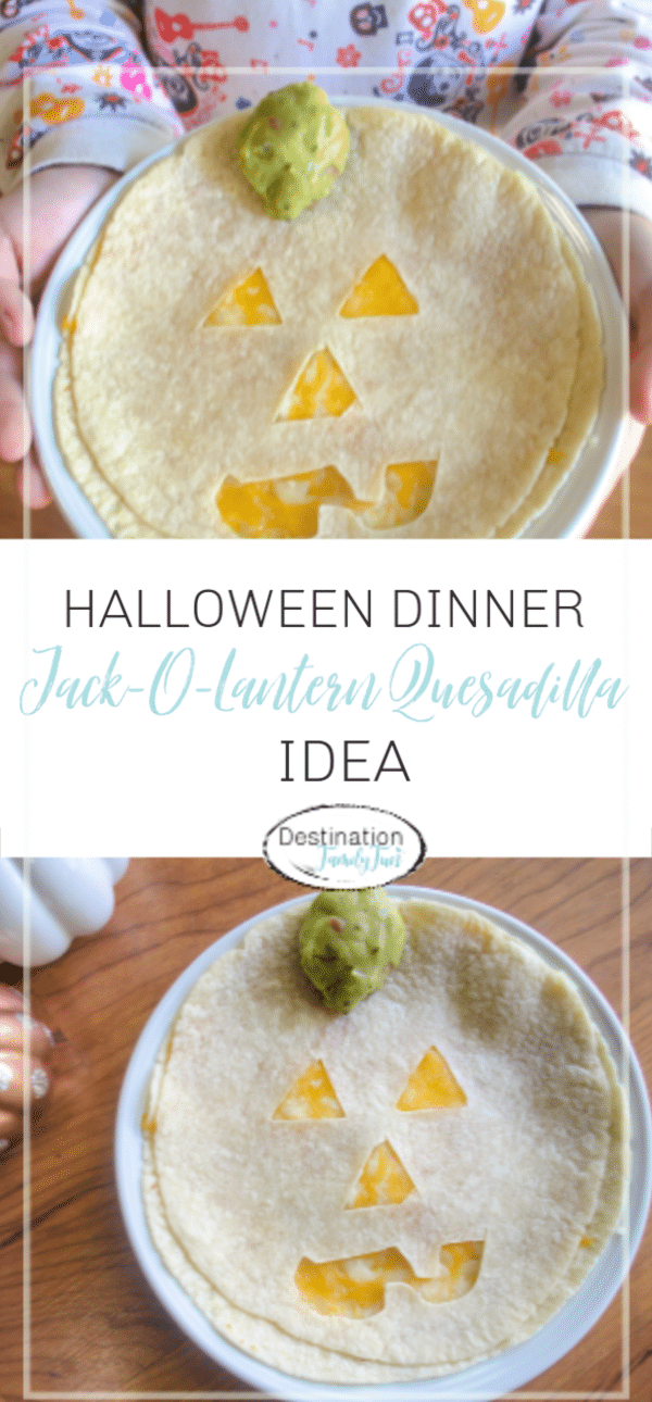 What a fun way to celebrate Halloween with this Jack-o'-Lantern Quesadillas for kids. A fun fall themed kids meal for lunch or dinner. Simple to make. What kid doesn't love themed food?!