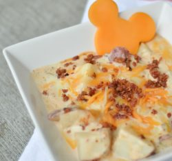 Chef Mickey's Cheesy Bacon Potatoes is an easy Disney copycat recipe that resembles the Disney breakfast potatoes recipe. Need some magic at home? This Disney recipe will be a favorite.