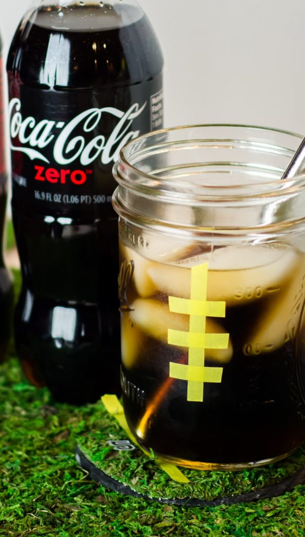diet soda in mason jar