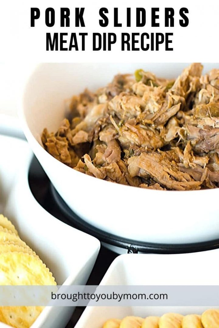 pork and crackers in serving bowl