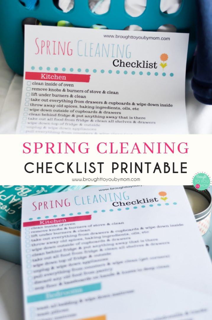 Spring Cleaning Checklist with a free printable.