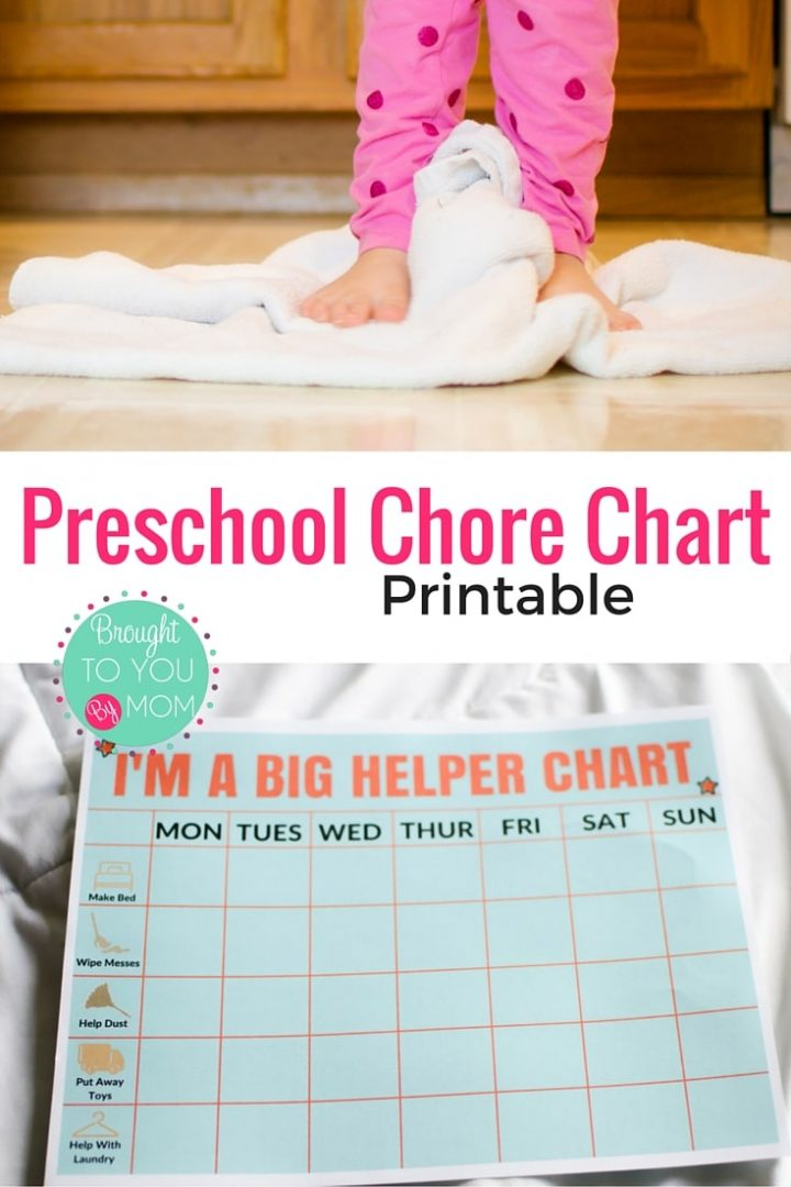 Preschool Chore Chart Printable. Ways to make chores fun for kids and keep track of their big help.