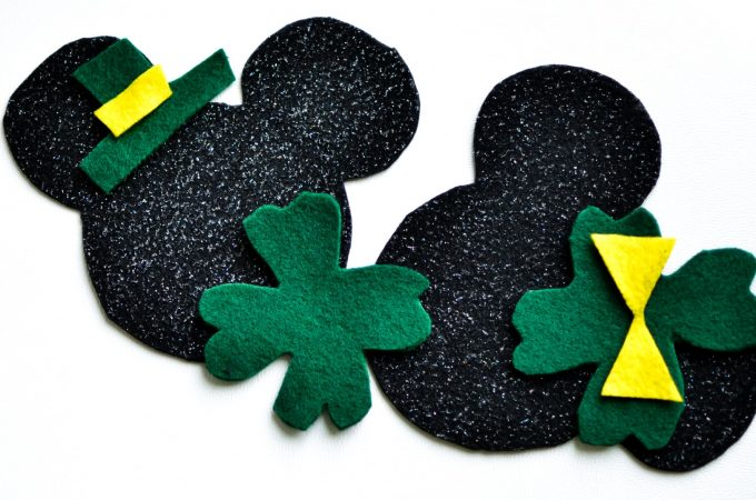 Mickey and Minnie Mouse St. Patrick's Day Felt Craft for a fun activity for kids this holiday.