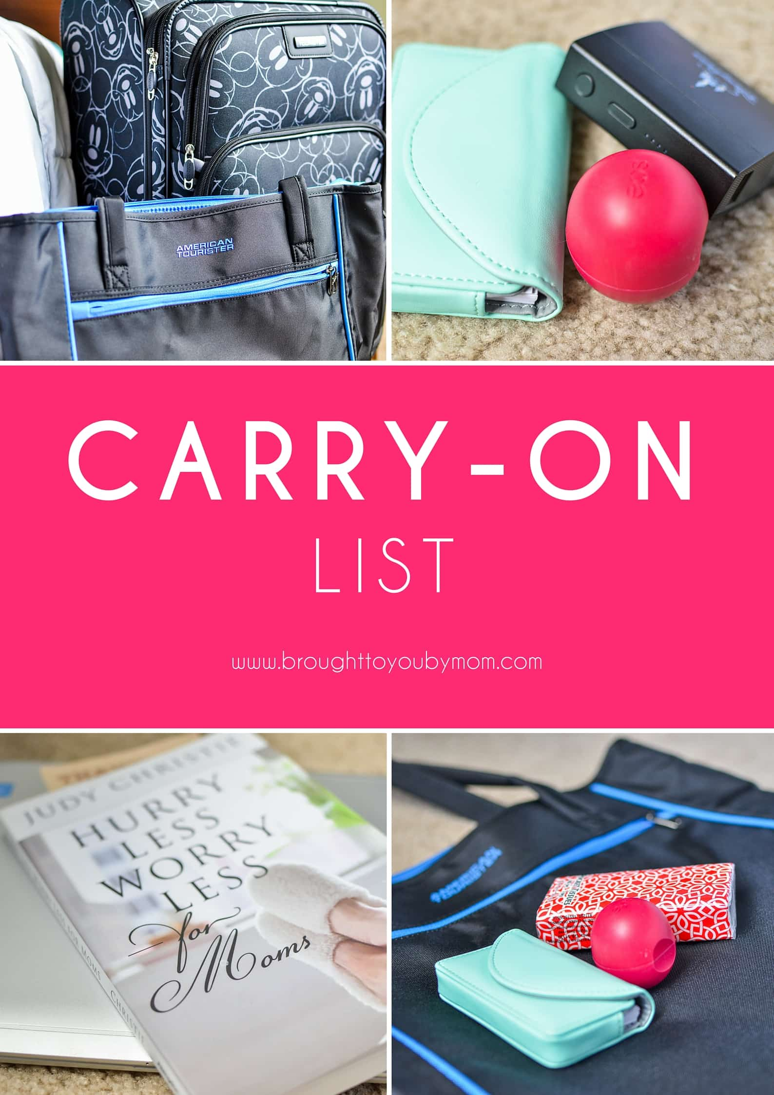 What you really need in a carry-on. Ideas of what to pack that are essential in a carry-on luggage and what isn't for travel. #travel #packing