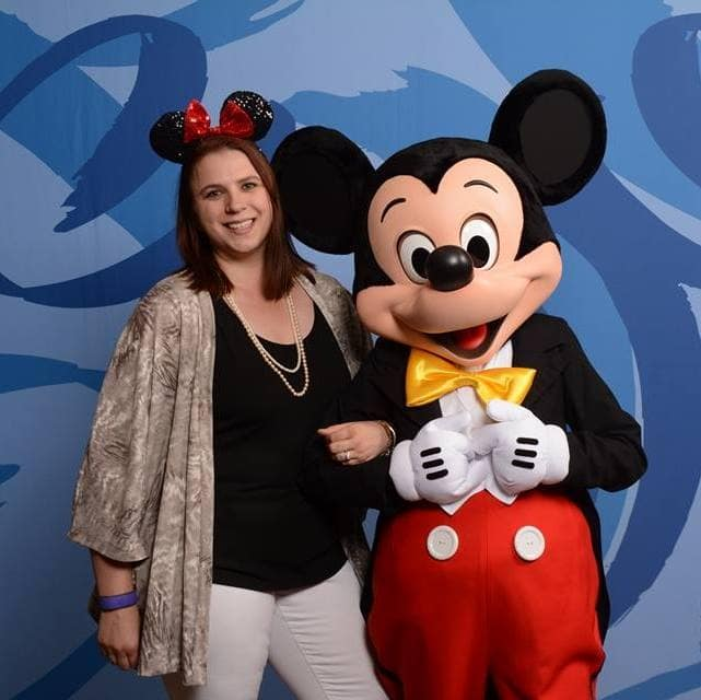 Krystal with Mickey Mouse