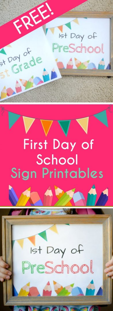 First Day of School Sign to Print for Back to School Photo