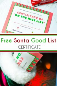 This Free Santa Good List Certificate is perfect for your Elf on the Shelf, stocking stuffer or left with the eaten milk and cookies.