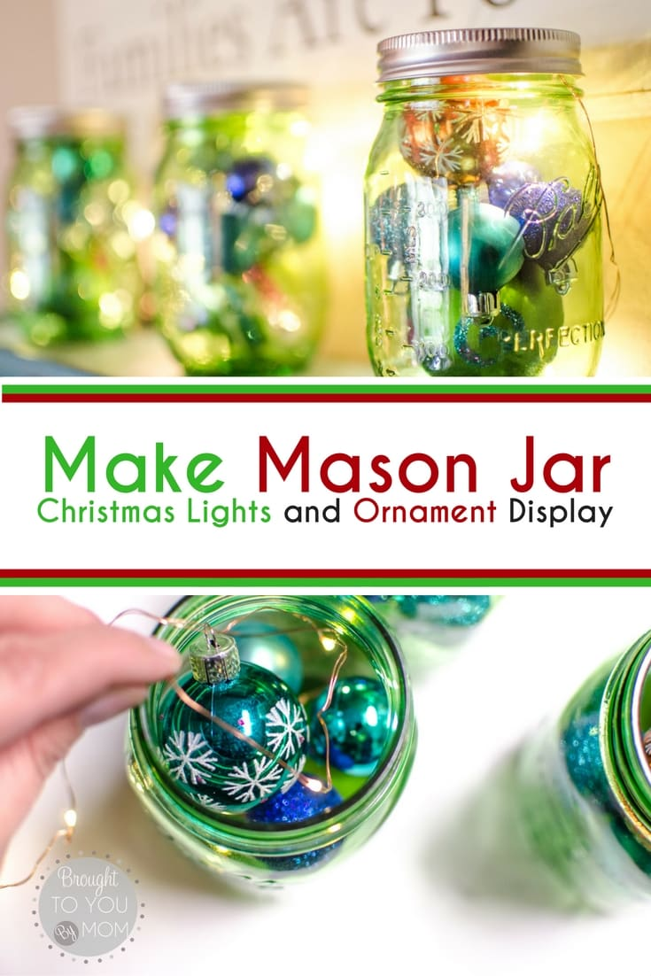 A Mason Jar Christmas Display - Mason Jar Christmas Decorations