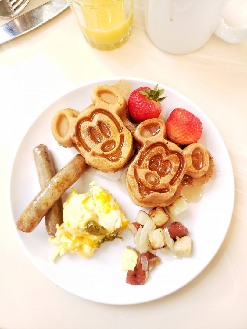 Mickey Waffles are great for Walt Disney World Birthdays