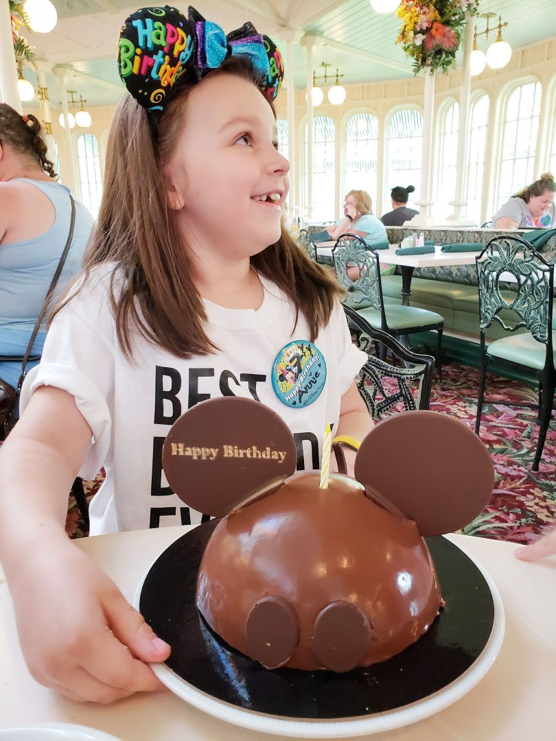 A Walt Disney World Birthday cake is perfect to add to any Advance Dining reservation.