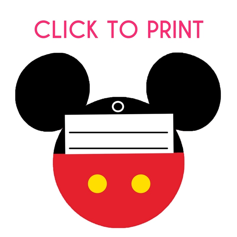 photo regarding Printable Mickey Mouse titled Totally free Printable Mickey Mouse Baggage Tags