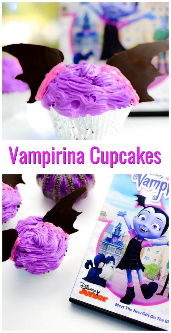 vampirina cupcakes with vampirina dvd