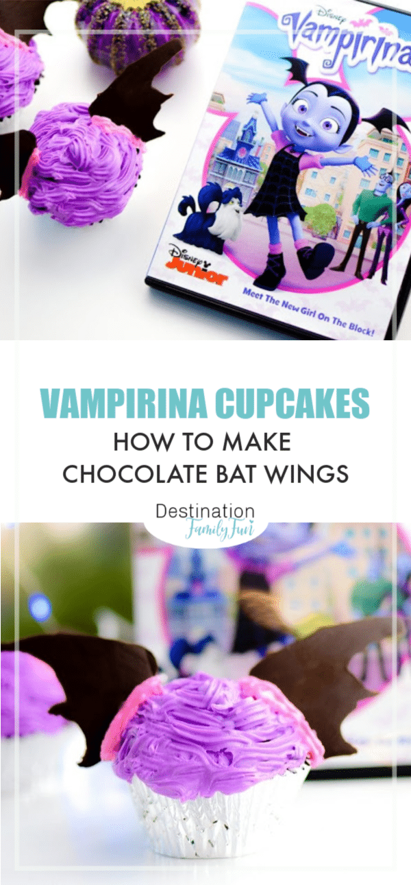 Vampirina Cupcakes are perfect for your Vampirina themed birthday party or movie night. Here is how to make bat