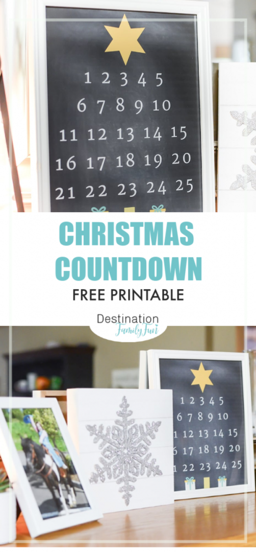 Christmas Countdown Printable Pin