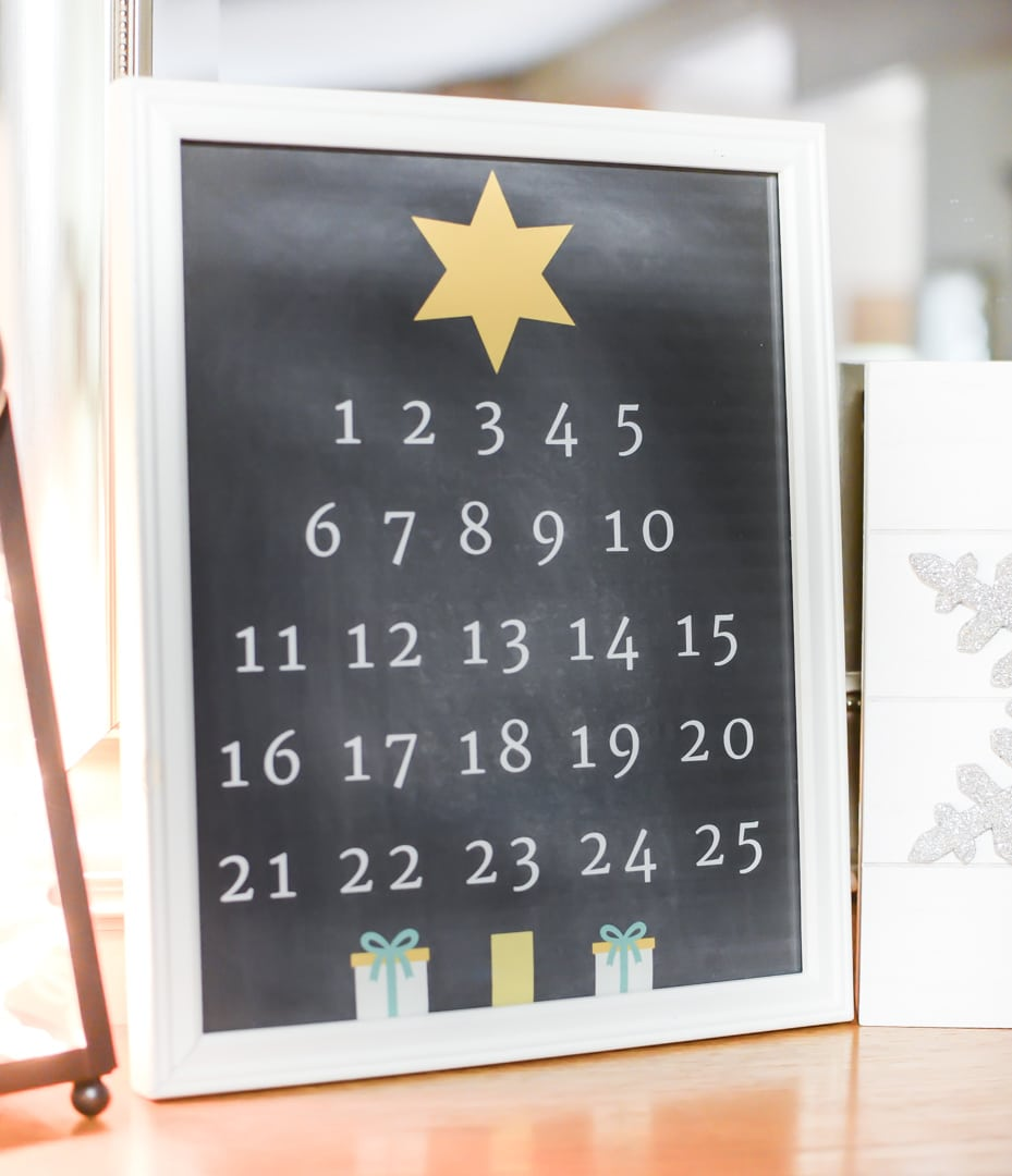 Christmas Countdown Printable Free to Frame