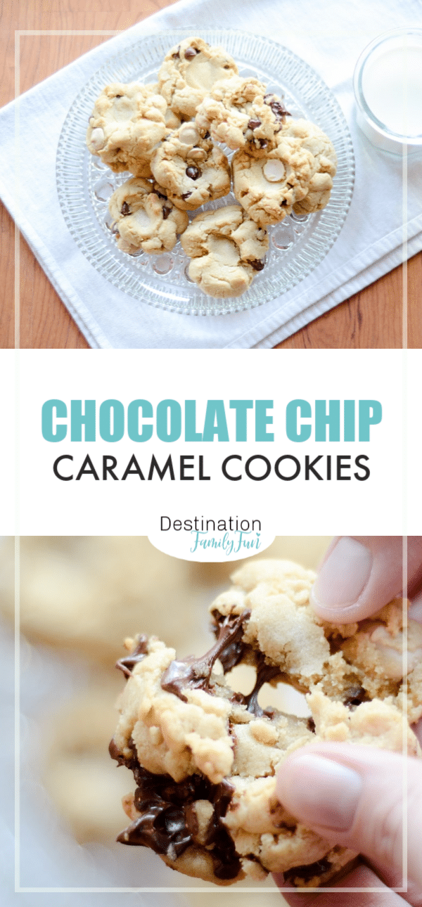 Chocolate Chip Caramel Cookies that are rich, savory, and perfectly chunky for a delightful treat anytime. Easy to bake and fun to enjoy. #chocolatechip #cookies