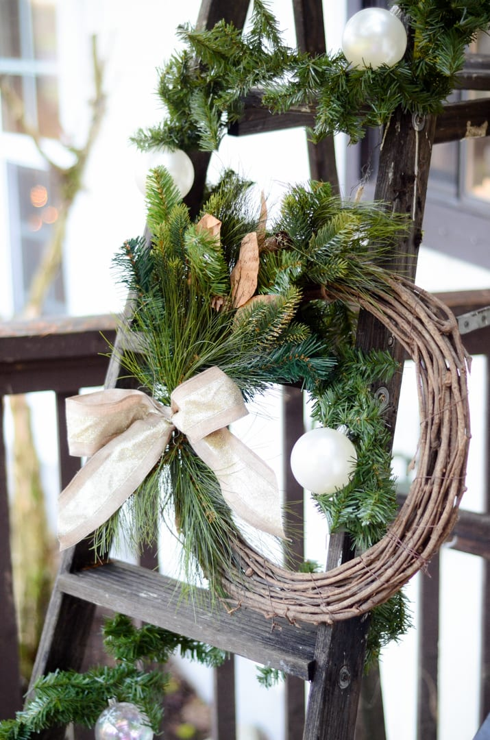 Front Porch Christmas Decor Wreath