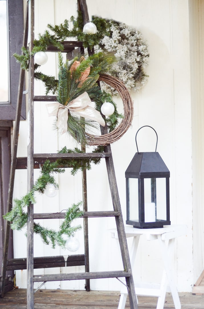 Front Porch Christmas Decor Farmhouse Style