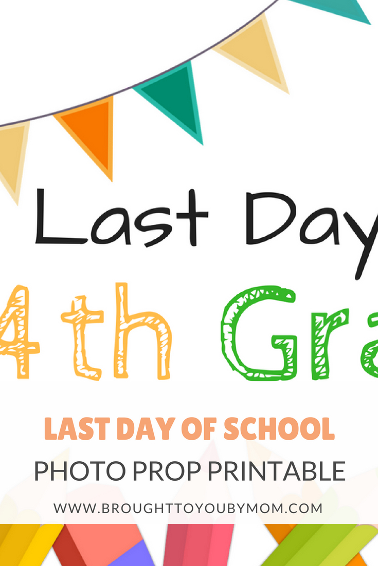 These Last Day of School Sign Printables are perfect for those memories of the last day of school for those in grade school. Easy to print and use. A last day of school photo prop is fun to use at home or in the classroom.