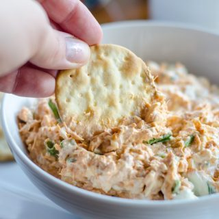Dipping into an easy tuna dip recipe filled with spicy heat and zing.