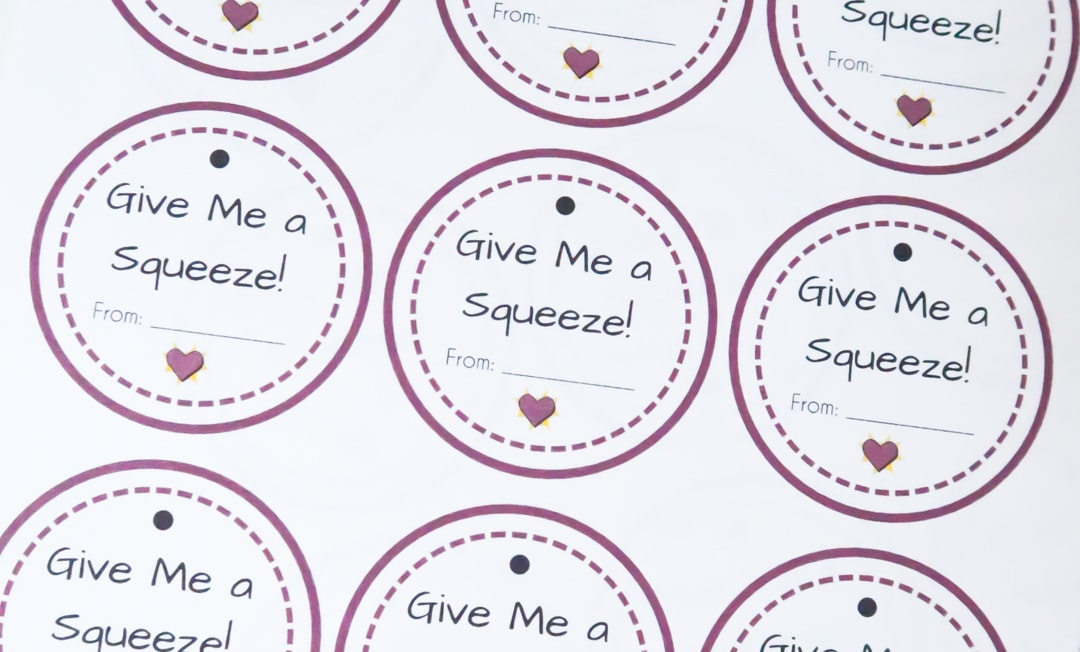 Printable Valentine's Day Cards for toddlers. Simply print, cut, and add to squeezable pouches.
