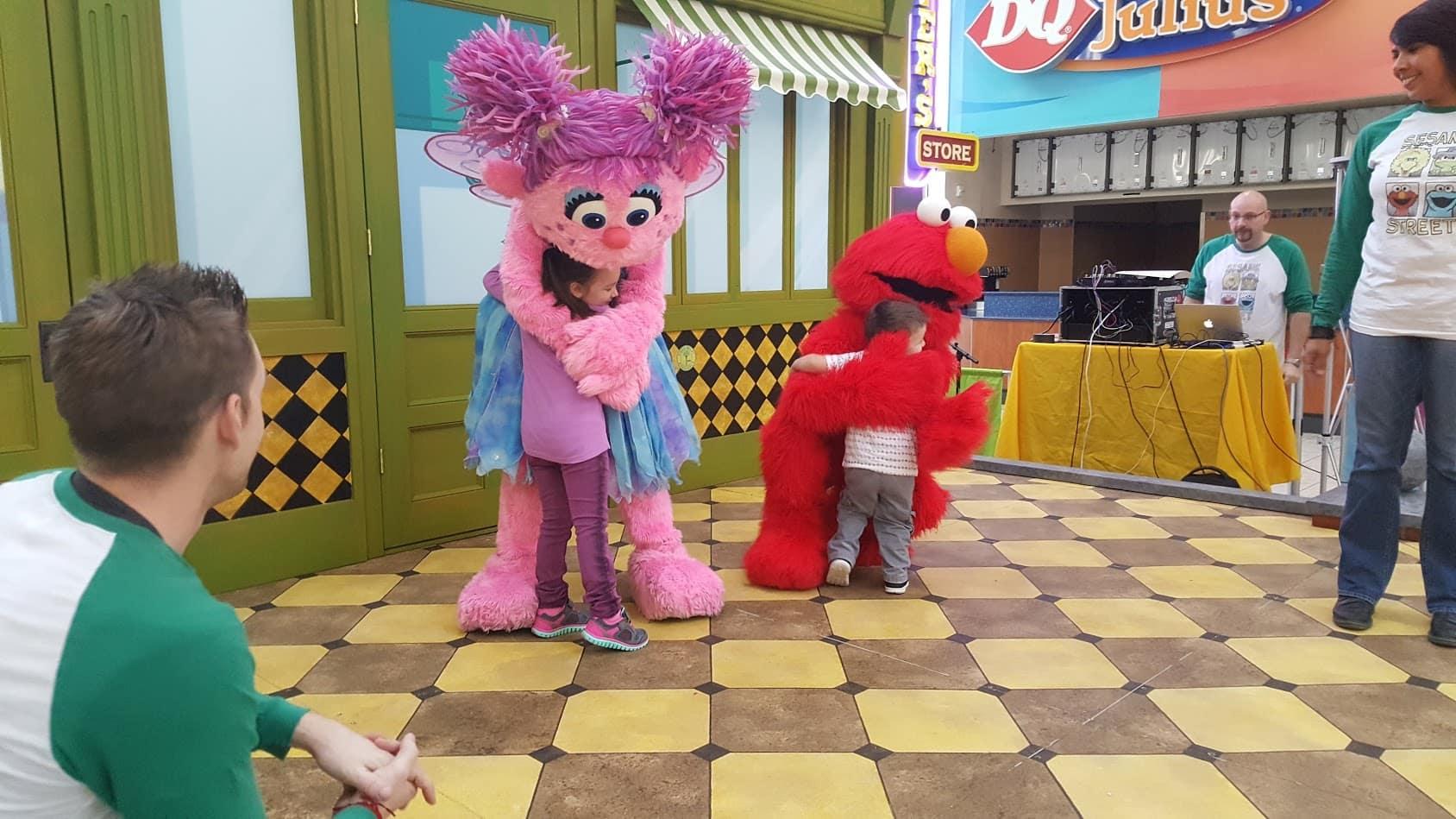 Meet Elmo and Abby Cadabby in Washington on February 3, 2018.