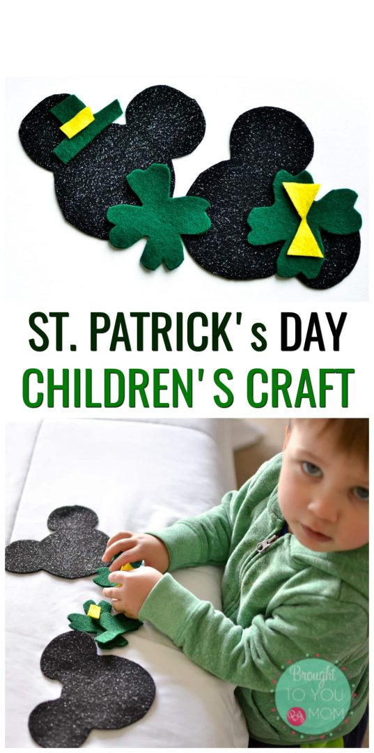 This St. Patrick's Day Children's Craft features Mickey Mouse Crafts that you might be looking for. These Mickey Mouse Crafts for toddlers and kids are a great way to celebrate St. Patrick's Day for toddlers and kids.