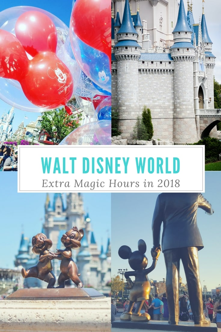 Disney World Extra Magic Hours in 2018 has a new face! See what new hotels now offer Extra Magic Hours.
