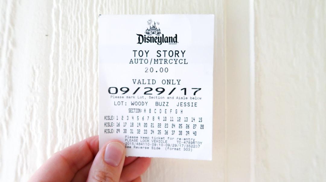 Disneyland Parking Ticket