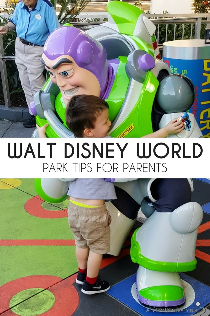 Check out some great Walt Disney World Park tips for parents. Everything from tips for dining to planning your trip with young children.#waltdisneyworld #disneyworld #traveltips #familytravel #travel #travelingwithkids #travelkids #kids #family #disneytravel #disneytips #disney #florida #orlando