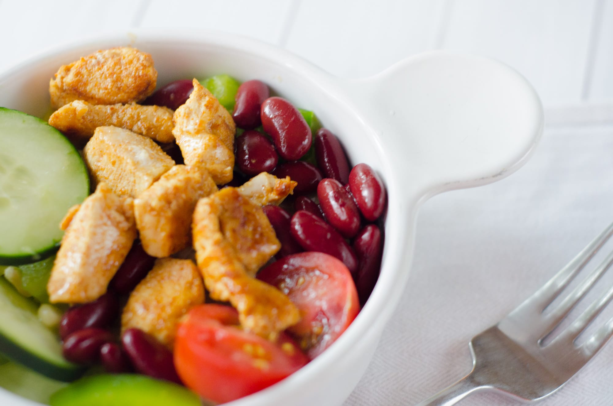Mexican Chicken Salad with Kidney Beans