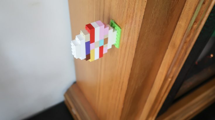 Indoor Easter Egg Hunt with Toy Blocks and Mayka Toy Block Tape