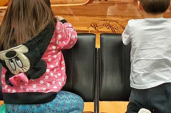 How to deal with flight delays when traveling with kids.
