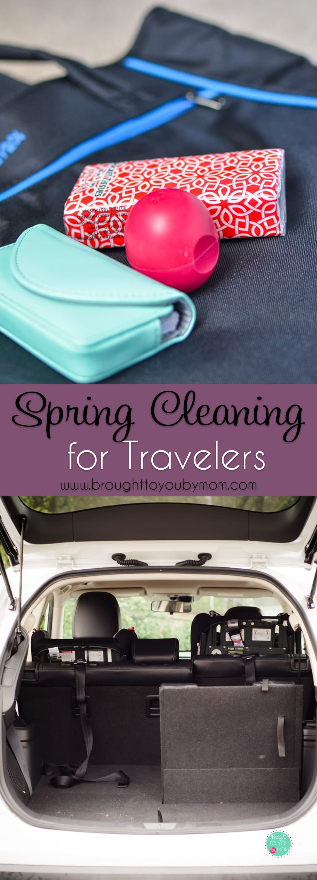 Spring cleaning for travelers tips. How to clean luggage, what you should be updating and more. Now is the time to get on spring cleaning for travelers before any upcoming road trips and travel plans for spring and summer. #traveltips #springcleaning #travel