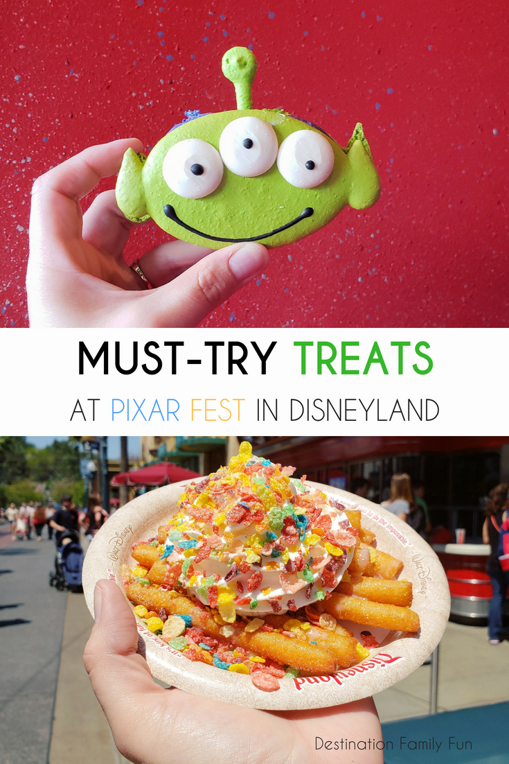 Must-try treats at Pixar Fest. Check out what are some favorites for the Disney foodie at Pixar Fest. Check out the price for each of these treats at Pixar Fest and how many each can feed.