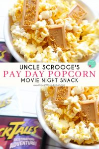 Uncle Scrooge's Pay Day Popcorn for a Ducktales Movie Night