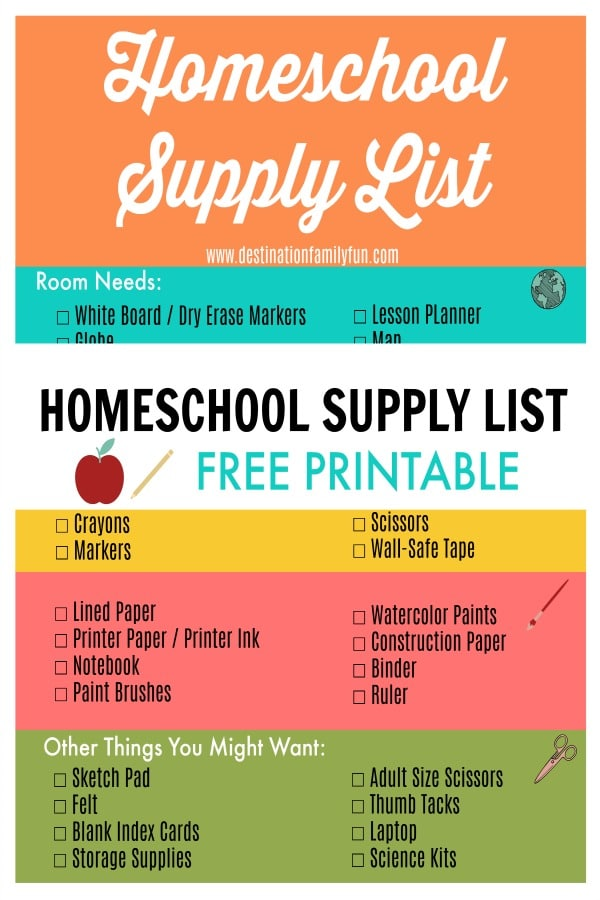 Homeschool Supply List Free Printable. Find this basic homeschool back to school shopping list to prepare for your homeschool year. An easy back to school shopping list that hopefully will not overwhelm.