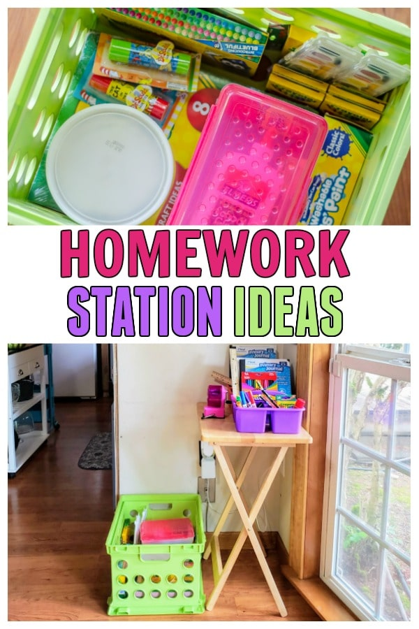 Homework Station ideas to create a great study space no matter if you homeschool or school outside of the home. Perfect for Back to School.