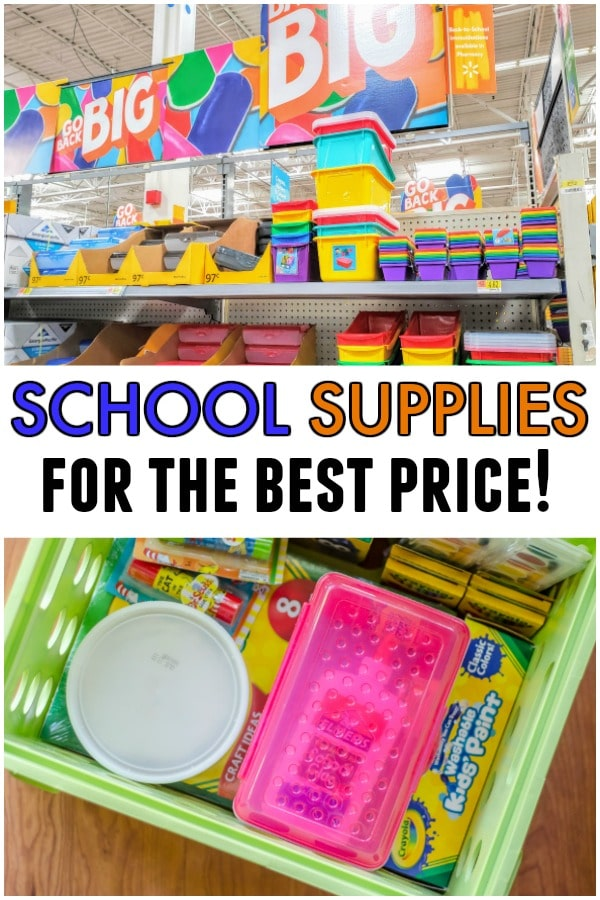 (sponsored) Where can you get school supplies for the best price? Check out these tips on finding the cheapest school supplies at Walmart! From someone who never used to be much of a Walmart shopper.#schoolsupplies #backtoschool #savings #school #cheap #bestprice #buying #walmart