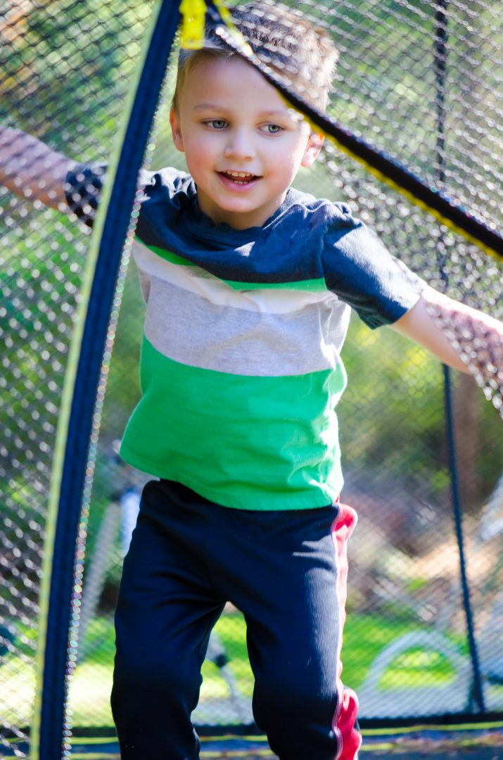 Springfree Trampoline is perfect to get kids outdoors and homeschool PE fun!