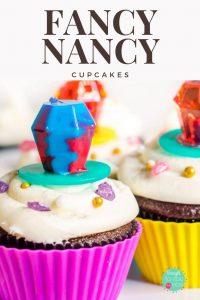 Fancy Nancy Cupcakes Pinterest Image