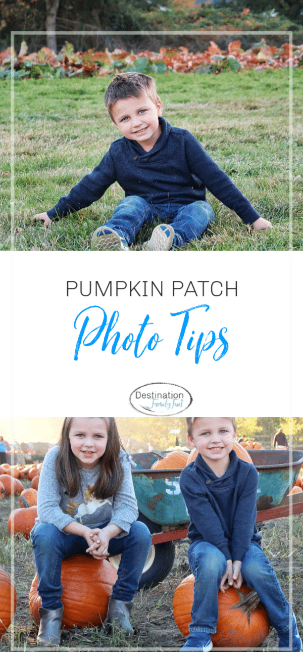 Pumpkin patch photo tips to capture great memories for a lifetime. Find the right times to photograph and how to set up a great shot.#photography #photo #tips #fall #pumpkinpatch #pumpkins #kids #photoskills #camera