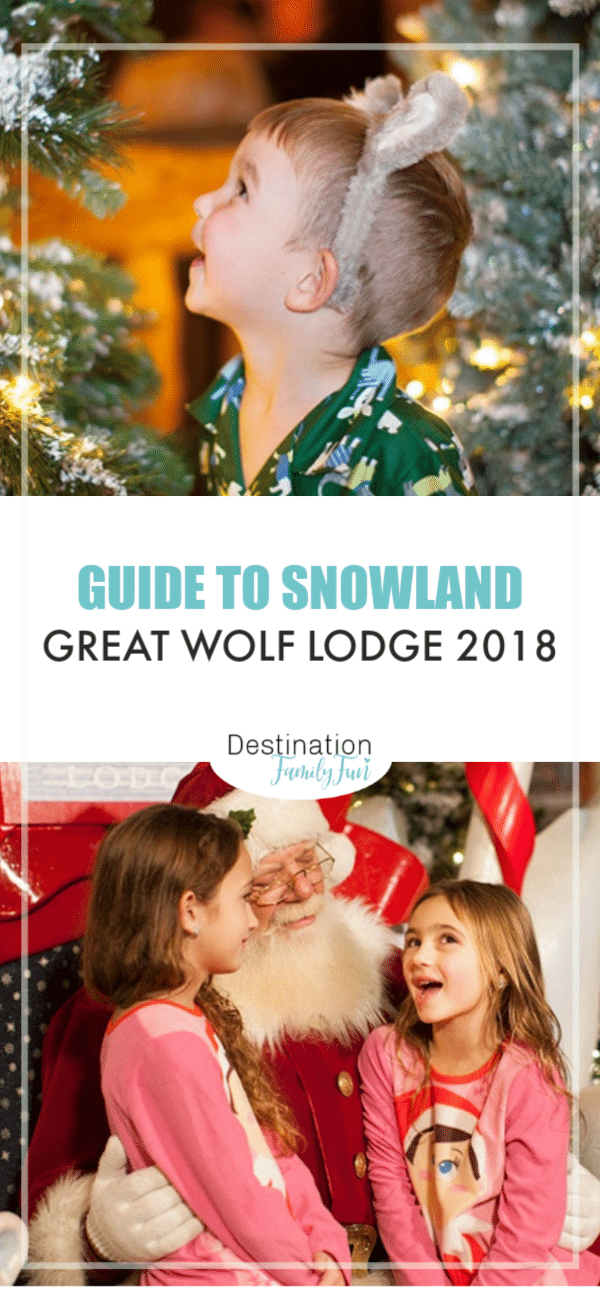 Snowland Great Wolf Lodge 2018 is filled with holiday cheer and joy. See Santa and celebrate while enjoying all Great Wolf Lodge has.#greatwolflodge #snowland