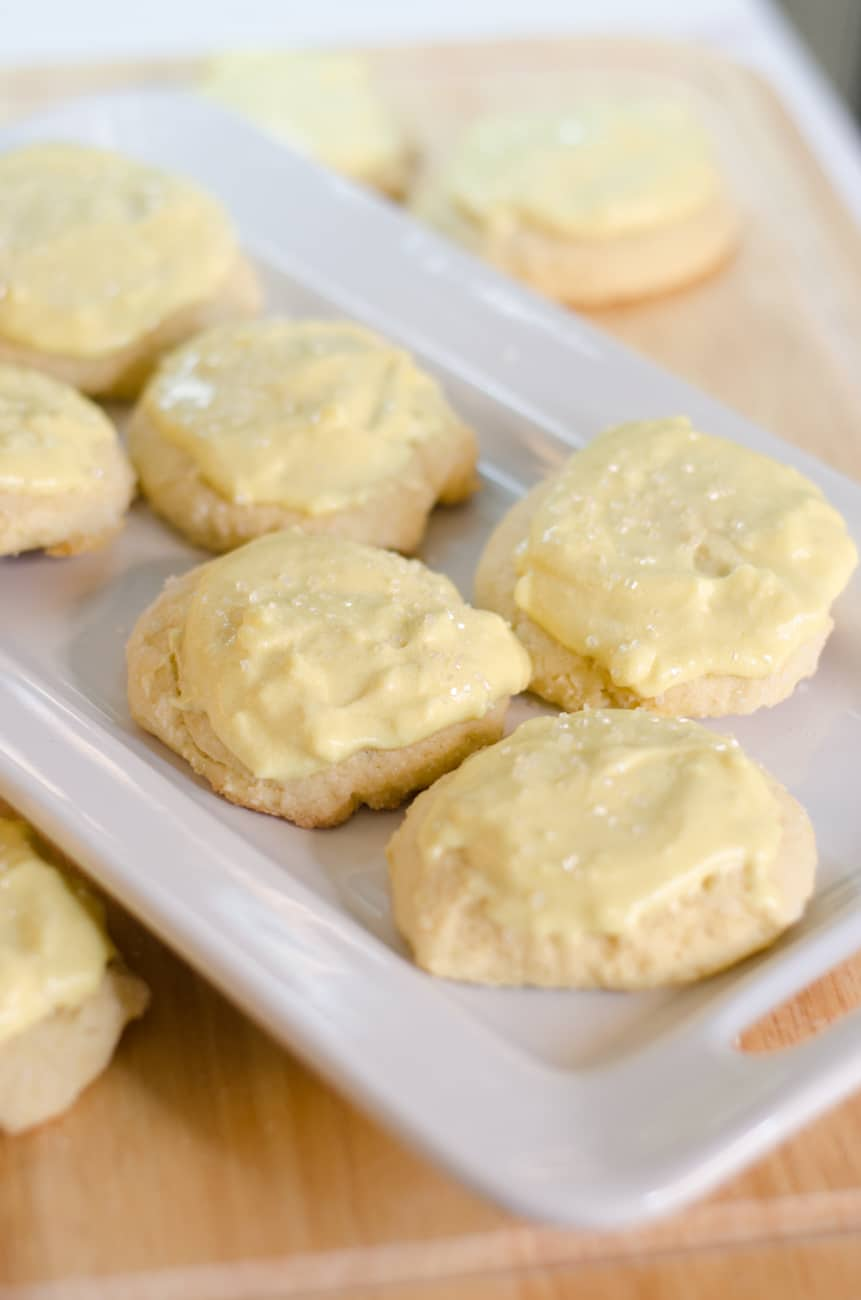 Sour Cream Sugar Cookies with Frosting