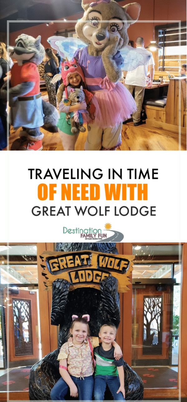 Great Wolf Lodge Water Park has been a loved family choice. Especially when we have been traveling during the time of need. Here's why.#greatwolflodge #travel #family #familytravel #travelwithkids #kidstravel #timeofneed #greatwolflodgewaterpark