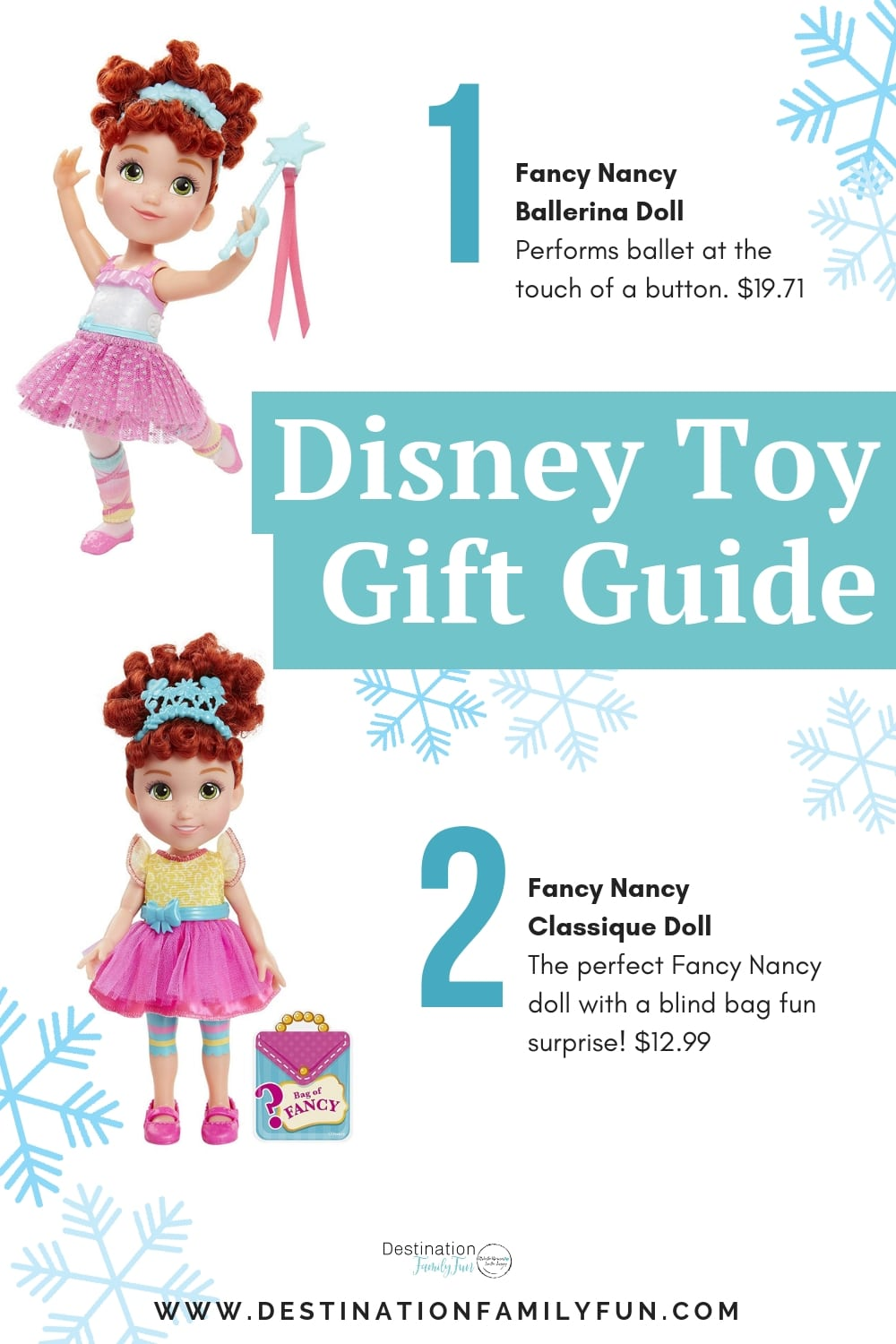 Fancy Nancy Doll Gift Guide - Disney Toy Holiday Gift Guide